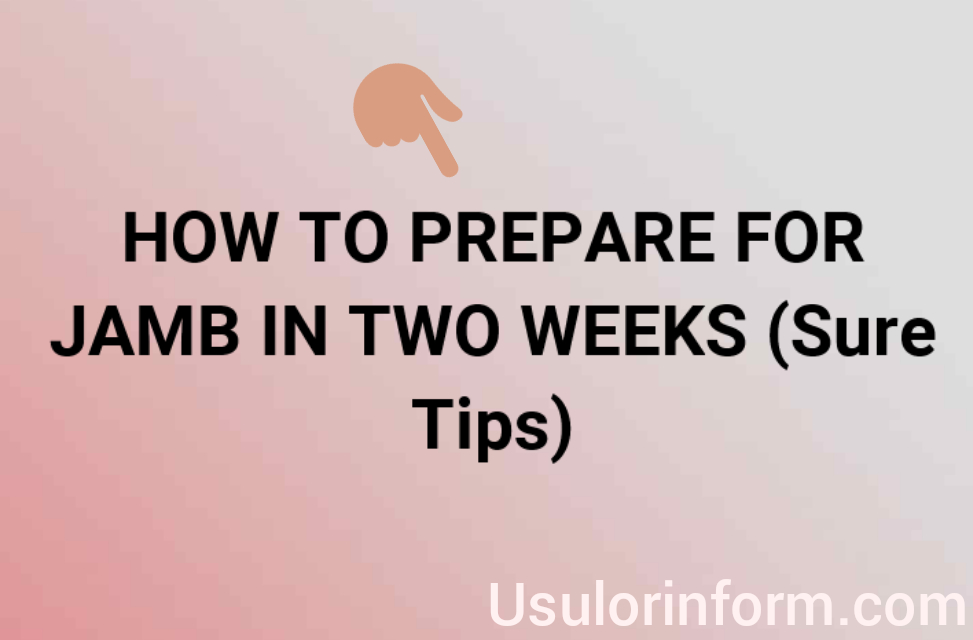 Prepare for jamb in two weeks