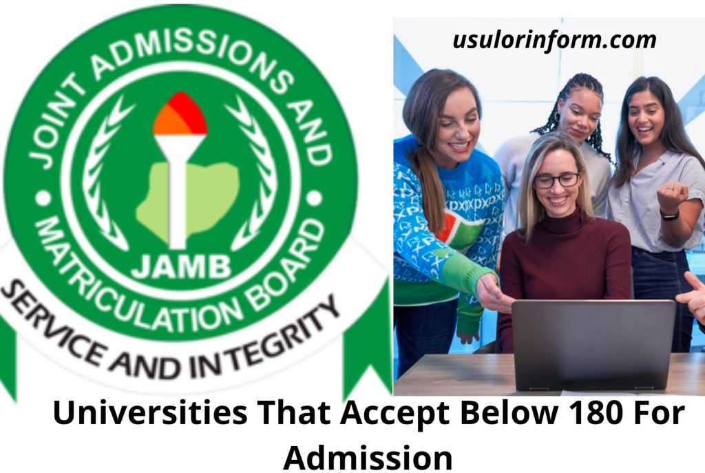 List of university that accept 160 in JAMB